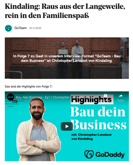 Podcast Go Team - Bau dein Business